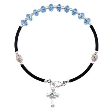 Multifaceted Swarovski Crystal Beads Rosary Bracelet