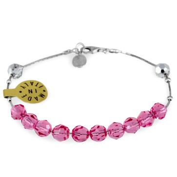 Swarovski Crystal Sliding Beads Rosary Bracelet