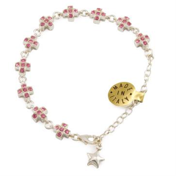 Sterling Silver Catholic Rosary Bracelet