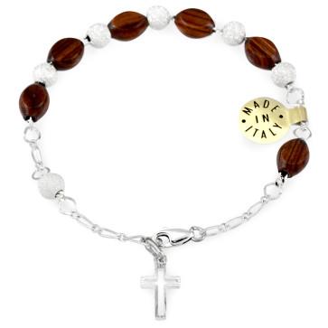 Palisander Beads Rosary Catholic Bracelet