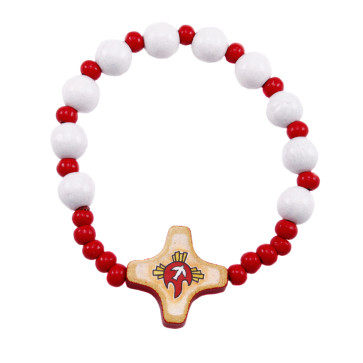 Confirmation Wooden Beads Rosary Bracelet