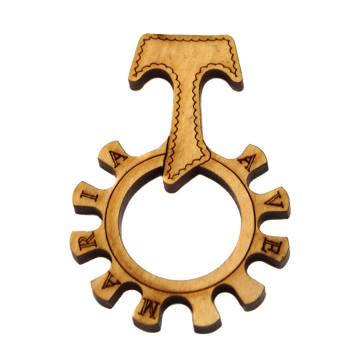 Tau Cross Ring Catholic Rosary
