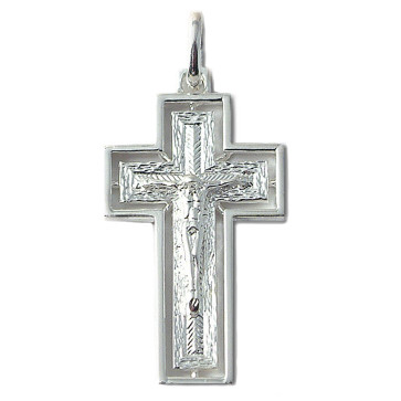 Sterling Silver Crucifix Catholic Pendant