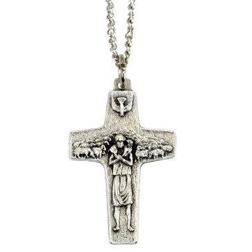 ope Francis Cross by Vedele-1 1/2 inch w/ chain