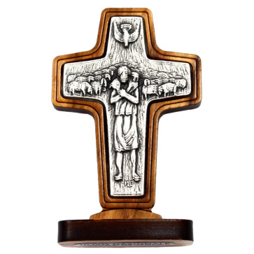 Pope Francis Cross Standing
