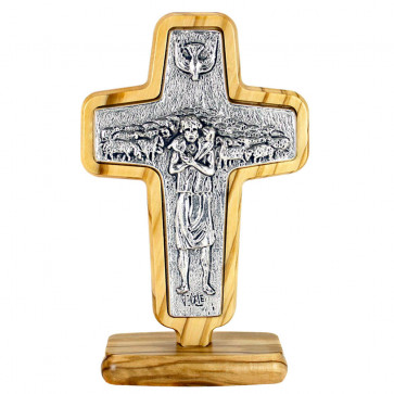 Pope Francis Standing Cross-4 3/4inches