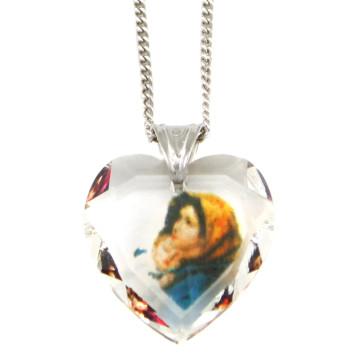 Swarovski Madonna of the Streets Catholic Pendant