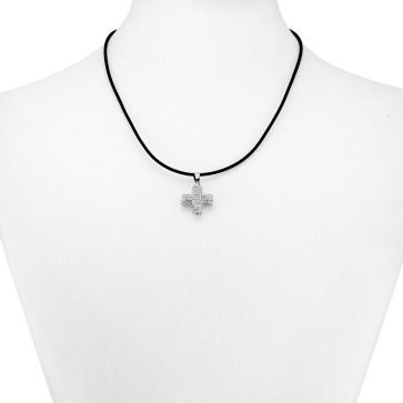 Catholic Rhinestone Caucho Necklace