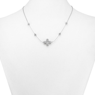 Catholic Rhinestone Cross Necklace