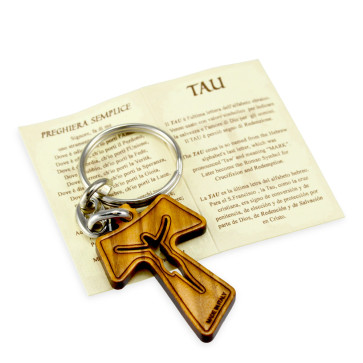 Catholic Tau Cross Keychain
