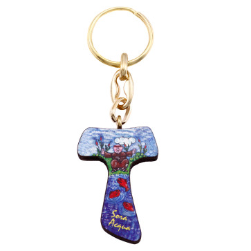 Sister Water Tau Cross Keychain