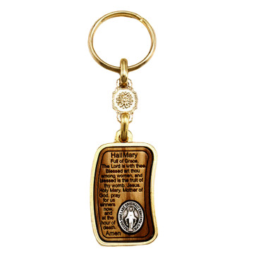 Hail Mary Prayer Keychain