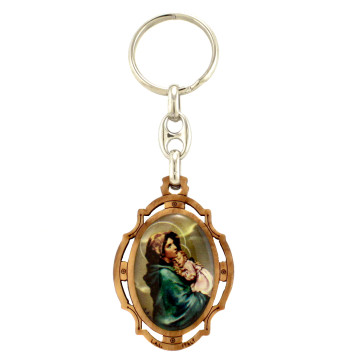 Madonna and Child Keychain
