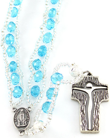 Ladder Rosary w/Multifaceted Crystal Beads