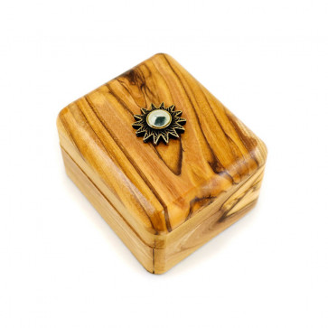 Olive Wood Gift Box with Relic