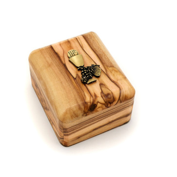 Olive Wood Gift Box with Communion Chalice