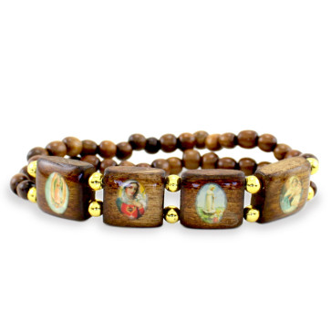 Sandalwood Catholic Rosary Bracelet