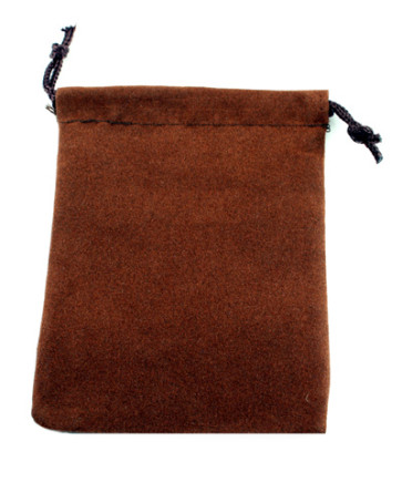 Chocolate Velour Rosary Pouch