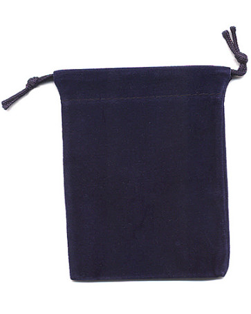 Dark Blue Soft Velour Rosary Pouch