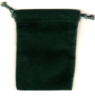 Green Soft Velour Rosary Pouch