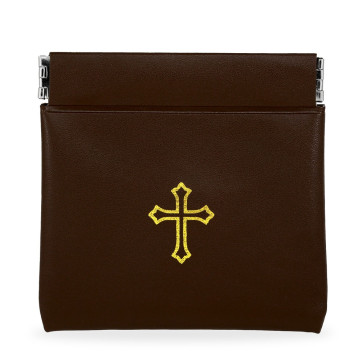 Brown Vinyl Rosary Pouches