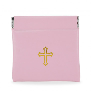 Pink Vinyl Rosary Pouch