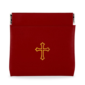 Red Vinyl Rosary Pouch