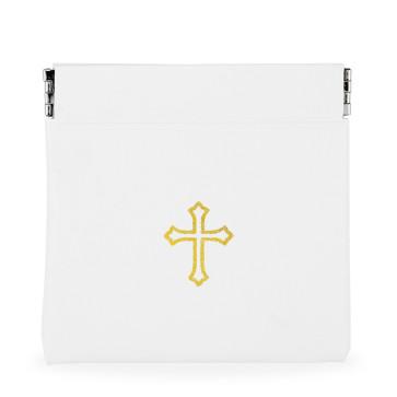 White Vinyl Rosary Pouch