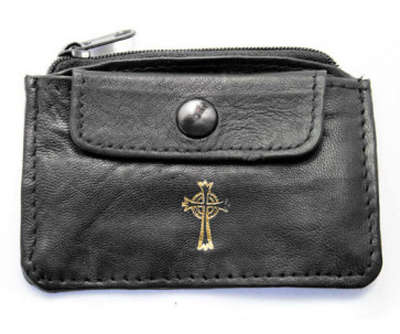 Leather Rosary Pouch with Two Pockets