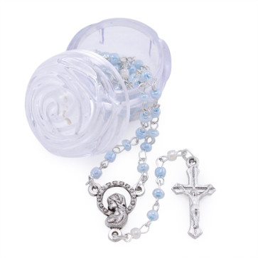 Blue Beads Rosary