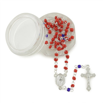 Glass Beads Catholic Rosaries w/ Box