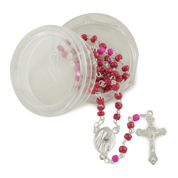 Glass Beads Lourdes Rosaries w/ Box