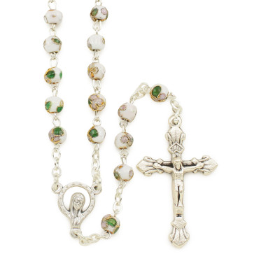 Rosary with Cloisonne Beads