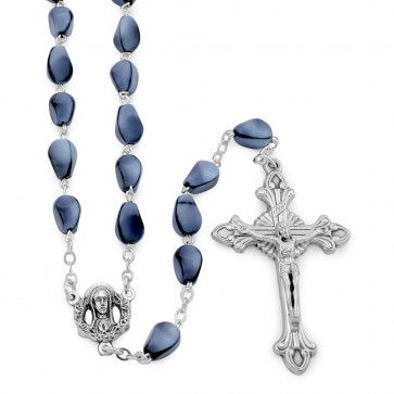 Glass Cone Beads Catholic Rosary