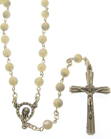 Miraculous Mother of Pearl Beads Rosary
