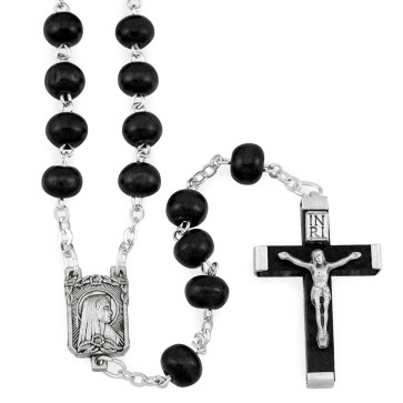 Lourdes Wooden Beads Rosaries