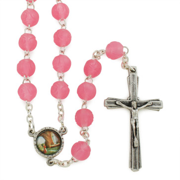 Lady of Lourdes Silicone Beads Rosaries