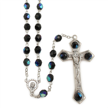Borealis Crystal Beads Catholic Rosary