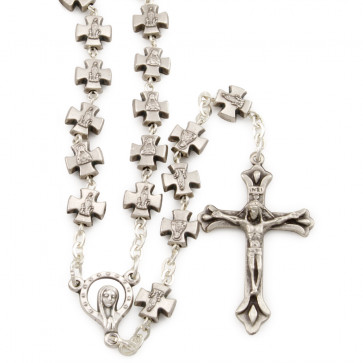 Catholic Miraculous Rosary w/ Cross Metal Beads