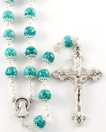 Capped Moonstone Beads Rosary
