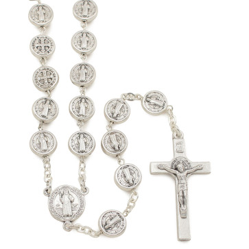 St. Benedict Metal Beads Catholic Rosary