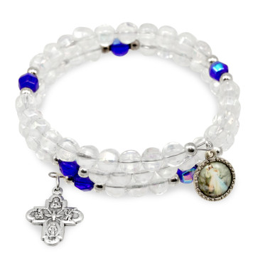 Divine Mercy Wrap Around Catholic Rosary Bracelet
