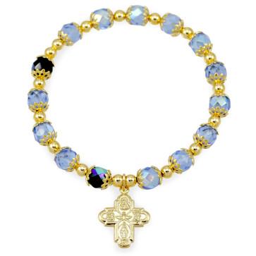 Four Way Cross Rosary Bracelet