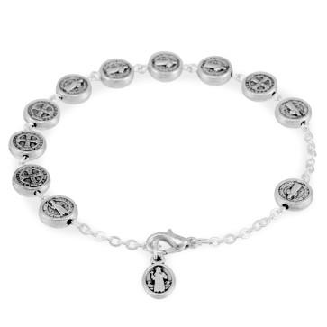 Catholic Rosary Bracelet, St. Benedict