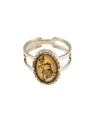 Pope John Paul II Silver Catholic Ring