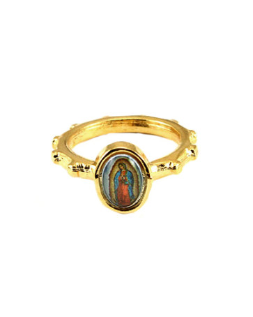 Our Lady of Guadalupe Catholic Rosary Ring