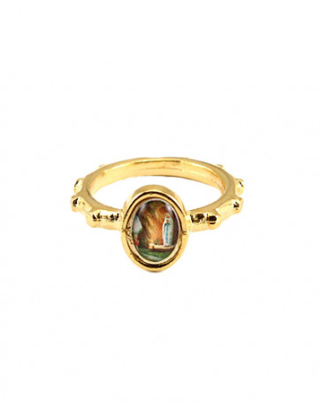 Our Lady of Lourdes Catholic Rosary Ring