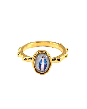 Our Lady of Grace Catholic Rosary Ring