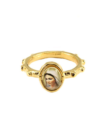Medjugorje Catholic Rosary Ring