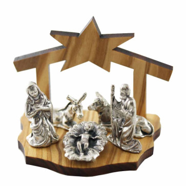Nativity Scene Olive Wood Manger